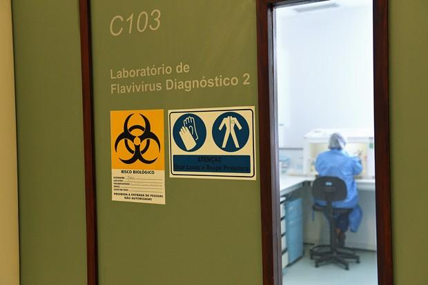 Análise de amostras de líquido amniótico das gestantes foi feito em Laboratório de Flavivírus do Instituto Oswaldo Cruz  (Foto: Gutemberg Brito/IOC/Fiocruz/Divulgação)