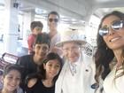 Márcio Garcia viaja com a família para Orlando: '25 anos de Disney'