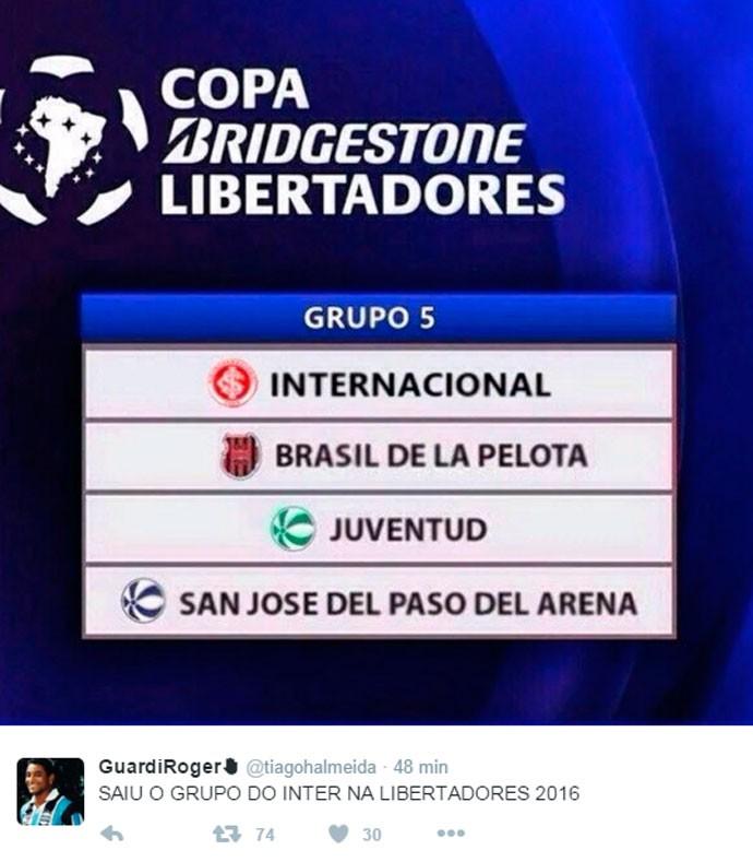 Corneta Inter Libertadodores (Foto: Reprodução)