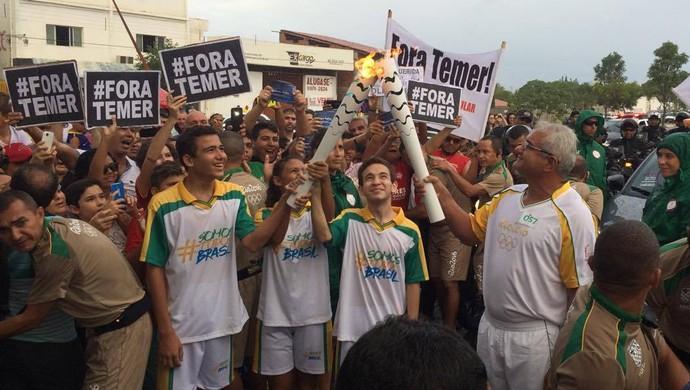 Revezamento da Tocha Olímpica - Mossoró-RN - Cícero Ramalho (Foto: Augusto Gomes/GloboEsporte.com)