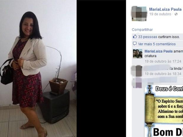 Maria Luíza de Paula teve 80% do corpo queimado, segundo as informações iniciais da PM (Foto: Reprodução/Facebook)