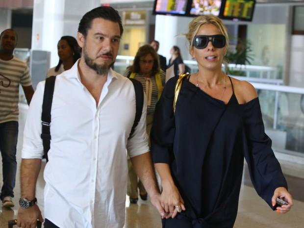 Alexandre Iódice e Adriane Galisteu (Foto: Marcello Sá Barretto/AgNews)