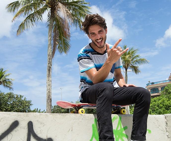 Brenno Leone começou a andar de skate porque tinha vontade de aprender a surfar (Foto: Felipe Monteiro / GShow)