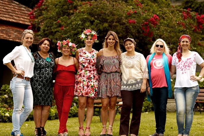 Daiane Fardin Outubro Rosa Estúdio C (Foto: Nina Vilas Boas/ RPC)
