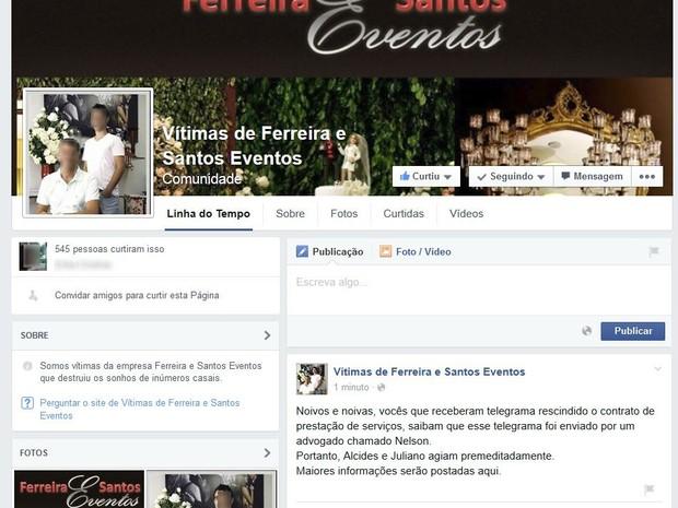 VALE ESTE Noivos em Uberlândia receberam telegrama informando que contratos seriam rescindidos  (Foto: Reprodução/Facebook)