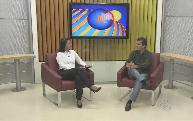 Gerson Paes, gerente de atendimento da Eletrobrás fala sobre o atendimento ao cliente (Foto: Bom Dia Amazônia)