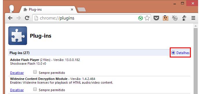 Clique para exibir os detalhes dos plugins (Foto: Reprodução/Paulo Alves)