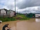 Região do Juruá no AM tem situação de alerta por conta da enchente
