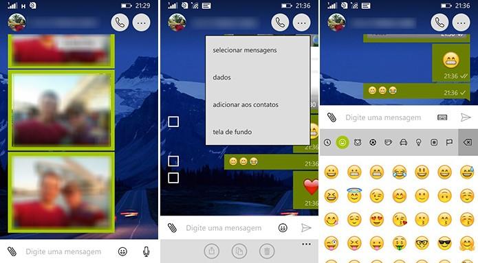 WhatsApp para Windows Phone ganhou nova interface na janela de conversa (Foto: Reprodução/Elson de Souza)
