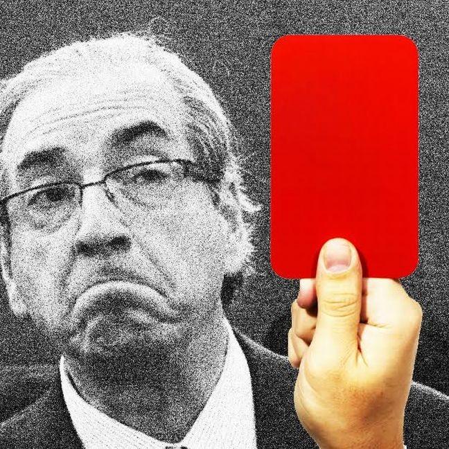 Cartão vermelho Eduardo Cunha (Foto: Arte: Antonio Lucena)