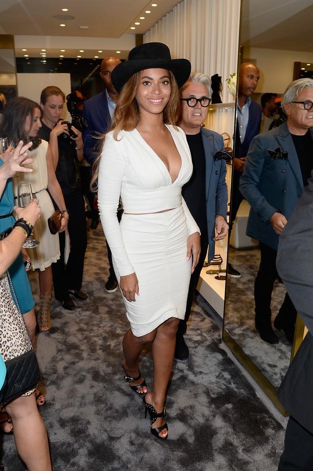 Beyoncé em evento em Los Angeles, nos Estados Unidos (Foto: Frazer Harrison/ Getty Images/ AFP)