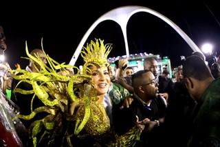 Claudia Leitte na dispersão (Foto: Claudio Andrade/ Foto Rio News)