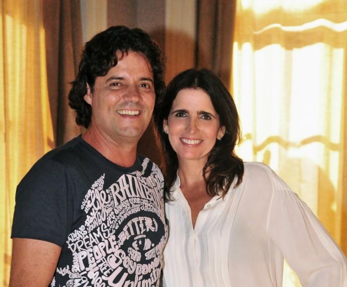 Felipe Camargo foi par romântico de Malu Mader na novela Sangue Bom (Foto: TV Globo/João Miguel Júnior )