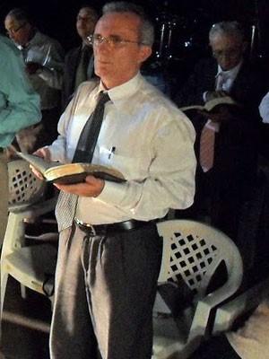 Arni Praxedes em evento na Assembleia de Deus, em Patu (Foto: Vinycius Targino/G1)