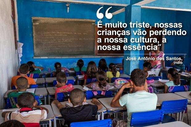 É muito triste, nossas crianças vão perdendo a nossa cultura, a nossa essência (Foto: Jonathan Lins/G1)