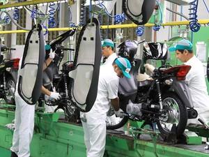 Produção de motos Honda (Foto: Caio Mattos/Divulgação)