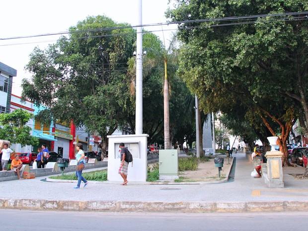 Praça Nossa Senhora dos Remédios  (Foto: Leandro Tapajós/G1 AM)