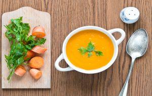 Sopa de cenoura com laranja e cardamomo