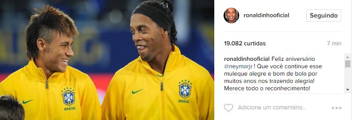 Neymar aniversário Ronaldinho