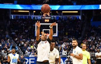 """Rodrigo se arrisca em desafio na NBA, mas erra o alvo: """"Experiência única"""""""