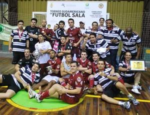 Orlândia é campeãoda Libertadores de futsal (Foto: Divulgação/Orlândia)