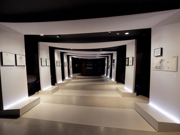 Ala do Horror da exposição 'O mundo de Tim Burton' no MIS, em SP (Foto: Letícia Godoy/MIS/Divulgação)