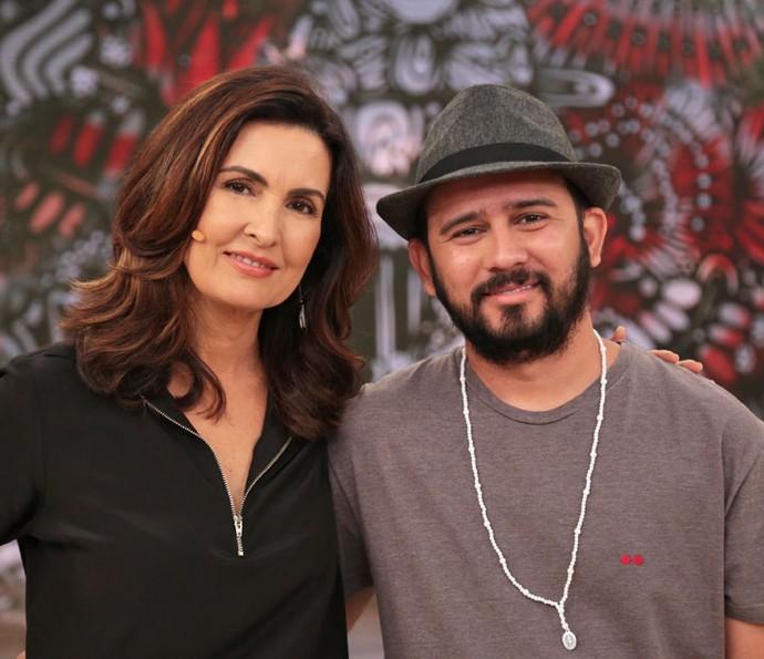 Fátima com o parceiro Bráulio Bessa  (Foto: Isabella Pinheiro/Gshow)