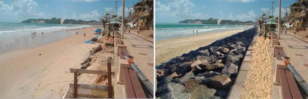 Será construído um paredão de pedras que servirá como proteção contra a erosão (Foto: Divulgação/Prefeitura de Natal)