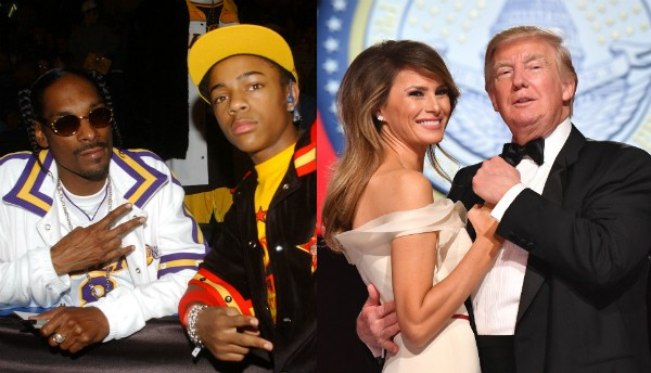 Snoop Dogg, Bow Wow, Melania Trump e Donald Trump (Foto: Getty Images)