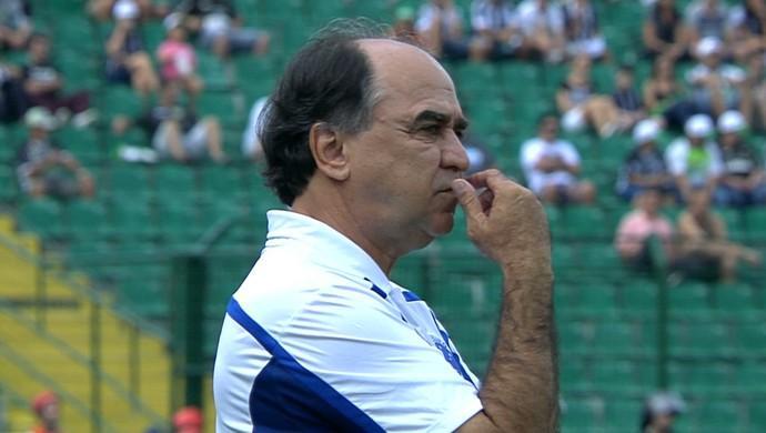 Marcelo Oliveira comandou o Cruzeiro na partida contra o Figueirense (Foto: Reprodução/TVGLOBO)