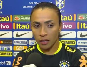 Marta em treino da seleção nos EUA