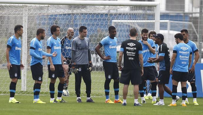 grupo do Grêmio Roger Machado  (Foto: Lucas Uebel/Grêmio)
