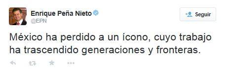Enrique Peña Nieto comenta morte de Chaves (Foto: Reprodução / Twitter)