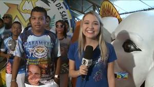 Colunista é tema da escola 'Marambaia do Samba' no desfile deste ano (Reprodução / TV Mirante)