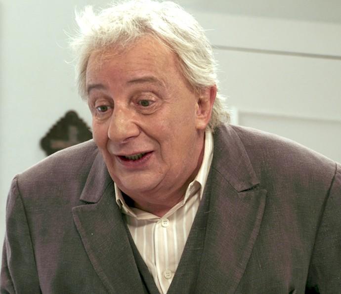 Pancrácio tem excelente ideia e encontra o padre que casou Anastácia (Foto: TV Globo)