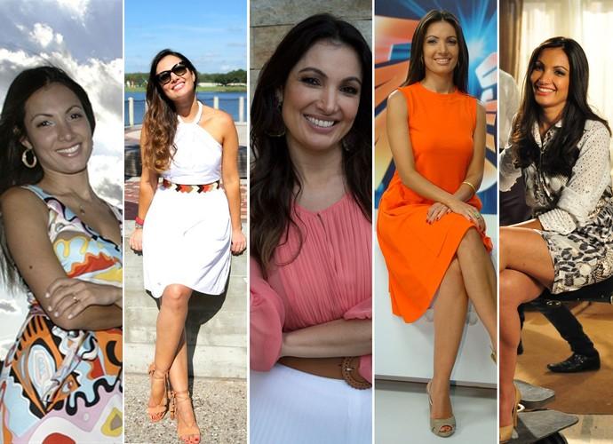 Patrícia Poeta divando por várias fases e programas (Foto: TV Globo)