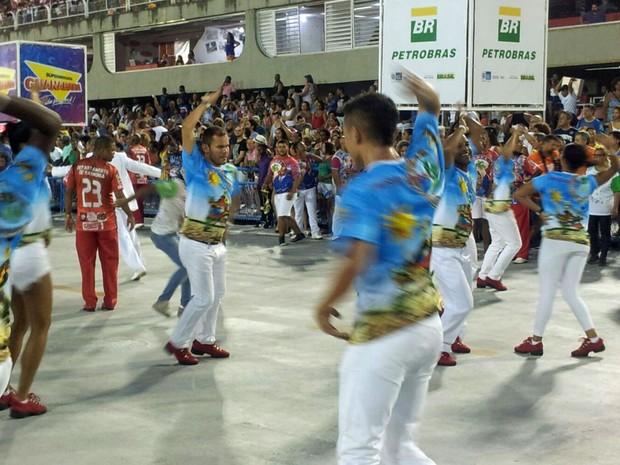 Ensaio técnico da União do Parque Curicica na Sapucaí (Foto: Alba Valéria Mendonça / G1)