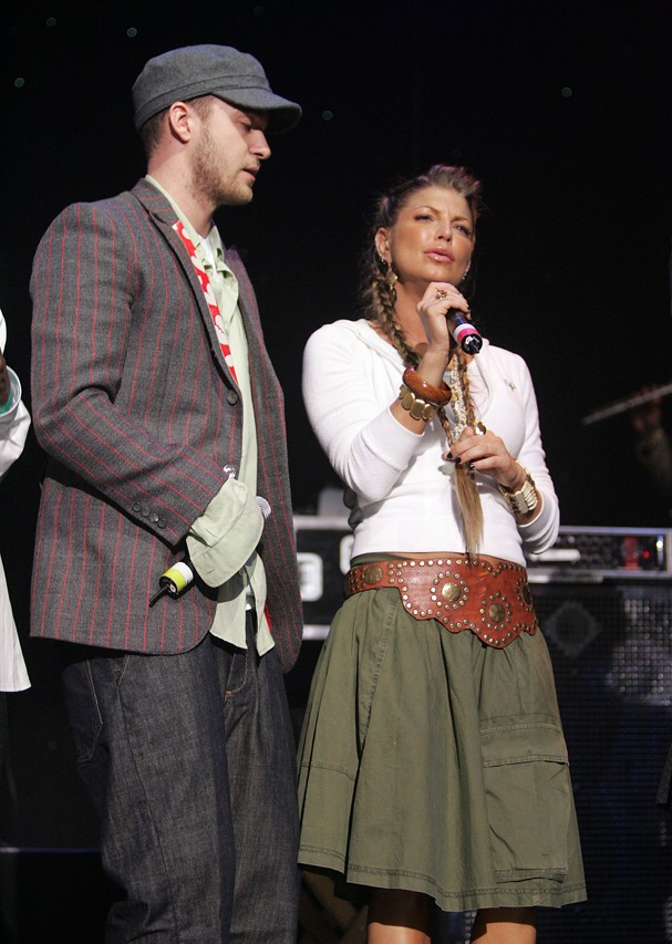Justin Timberlake e Fergie em 2005 (Foto: Getty Images)