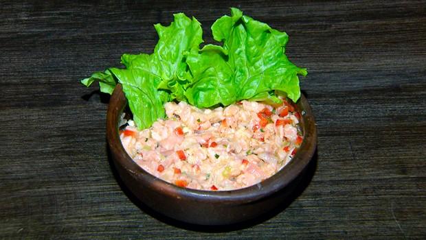 'Hora do Rancho' ensina uma receita de Ceviche de Salmão (Foto: Reprodução / EPTV)