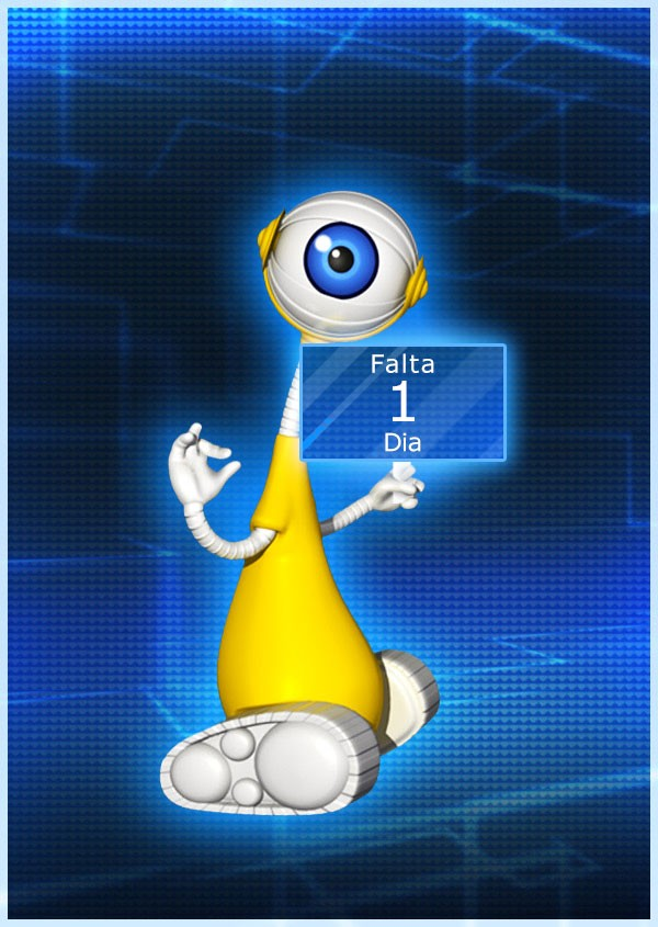 1 DIA (Foto: tv globo/bbb)