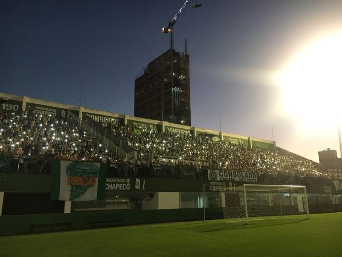 Torcida Chapecoense Arena Condá (Foto: Amanda Kestelman)