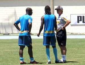 Oswaldo de Oliveira no treino do Botafigo com Seedorf e Andrezinho (Foto: Thales Soares / Globoesporte.com)