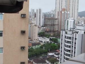 Ninho foi feito no 20º andar de prédio de Santos (Foto: Marcos Vinicius Yog / Arquivo Pessoal)