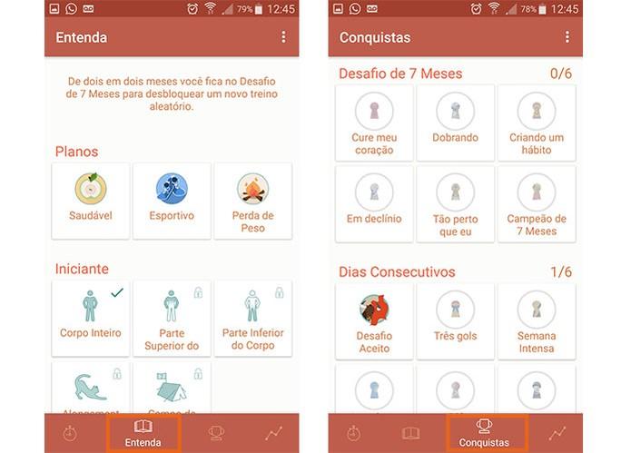 Entenda melhor como funciona o app e as conquistas (Foto: Reprodução/Barbara Mannara)