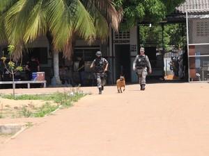 Segurança confirmou que 30 militares da Força Nacional chegaram ao estado nesta terça-feira (28) (Foto: Inaê Brandão/G1)