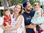 Luana Piovani publica foto em que aparece com Pedro Scooby e filhos