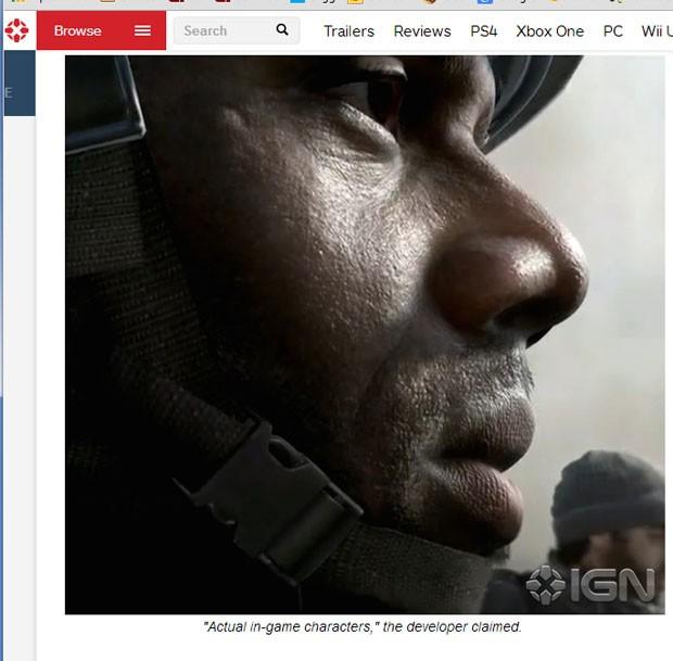 Site 'IGN' publicou a primeira imagem do novo 'Call of Duty', que chega no final de 2014 (Foto: Reprodução/IGN.com)