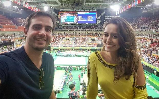 Max Fercondini e Amanda Richter na Olimpíada Rio 2016 (Foto: Reprodução/Instagram)