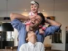 Veja mais fotos de Henri Castelli com os filhos Lucas e Maria Eduarda