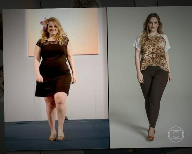 Carla Manso é modelo plus size (Foto: TV Globo)